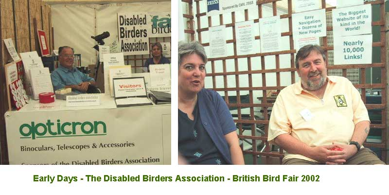 Early days at the birdfair (even our title embedded on this picture looks old now!!)