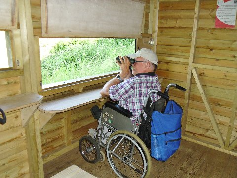 Brian (BFA treasurer) displaying lower hide access windows