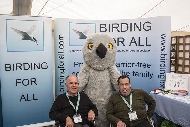 Henry Hen Harrier Meets the Team 2016 British Birdfair